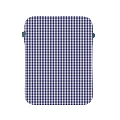 USA Flag Blue and White Gingham Checked Apple iPad 2/3/4 Protective Soft Cases