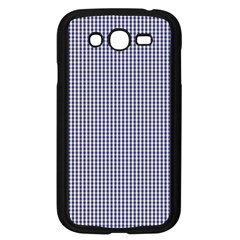 USA Flag Blue and White Gingham Checked Samsung Galaxy Grand DUOS I9082 Case (Black)