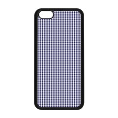 USA Flag Blue and White Gingham Checked Apple iPhone 5C Seamless Case (Black)