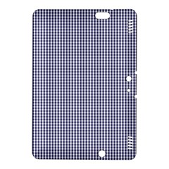 USA Flag Blue and White Gingham Checked Kindle Fire HDX 8.9  Hardshell Case