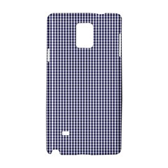 USA Flag Blue and White Gingham Checked Samsung Galaxy Note 4 Hardshell Case