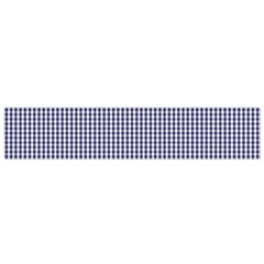 USA Flag Blue and White Gingham Checked Flano Scarf (Small)