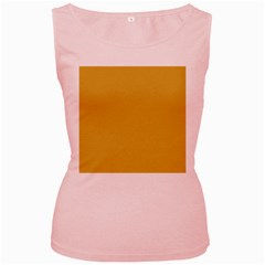 Designer Fall 2016 Color Trends-Spicy Mustard Yellow Women s Pink Tank Top