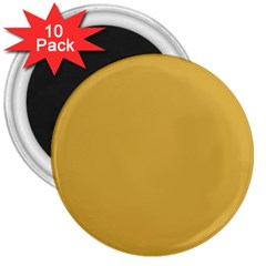 Designer Fall 2016 Color Trends-Spicy Mustard Yellow 3  Magnets (10 pack)