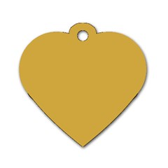 Designer Fall 2016 Color Trends-Spicy Mustard Yellow Dog Tag Heart (Two Sides)