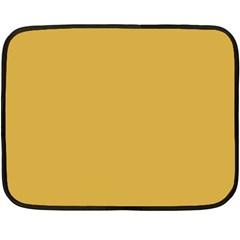 Designer Fall 2016 Color Trends-Spicy Mustard Yellow Fleece Blanket (Mini)