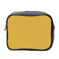 Designer Fall 2016 Color Trends-Spicy Mustard Yellow Mini Toiletries Bag 2-Side