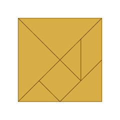 Designer Fall 2016 Color Trends-Spicy Mustard Yellow Acrylic Tangram Puzzle (4  x 4 )