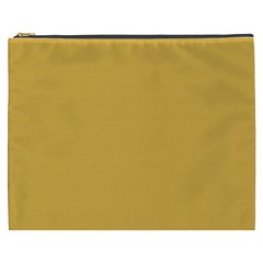 Designer Fall 2016 Color Trends-Spicy Mustard Yellow Cosmetic Bag (XXXL)