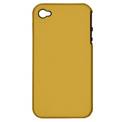 Designer Fall 2016 Color Trends-Spicy Mustard Yellow Apple iPhone 4/4S Hardshell Case (PC+Silicone)