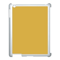 Designer Fall 2016 Color Trends-Spicy Mustard Yellow Apple iPad 3/4 Case (White)