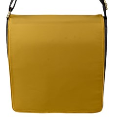 Designer Fall 2016 Color Trends-Spicy Mustard Yellow Flap Messenger Bag (S)