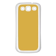 Designer Fall 2016 Color Trends-Spicy Mustard Yellow Samsung Galaxy S3 Back Case (White)