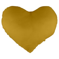 Designer Fall 2016 Color Trends-Spicy Mustard Yellow Large 19  Premium Flano Heart Shape Cushions