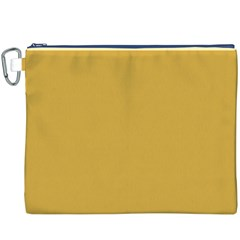 Designer Fall 2016 Color Trends-Spicy Mustard Yellow Canvas Cosmetic Bag (XXXL)