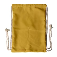 Designer Fall 2016 Color Trends-Spicy Mustard Yellow Drawstring Bag (Large)