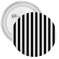 Large Black and White Cabana Stripe 3  Buttons