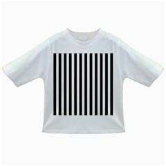 Large Black and White Cabana Stripe Infant/Toddler T-Shirts