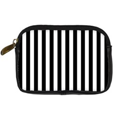 Large Black and White Cabana Stripe Digital Camera Cases