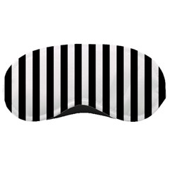 Large Black and White Cabana Stripe Sleeping Masks