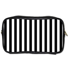 Large Black and White Cabana Stripe Toiletries Bags
