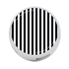 Large Black and White Cabana Stripe 4-Port USB Hub (Two Sides)