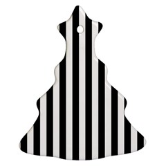Large Black and White Cabana Stripe Ornament (Christmas Tree)