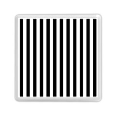 Large Black and White Cabana Stripe Memory Card Reader (Square)
