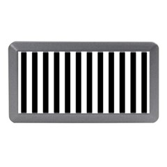 Large Black and White Cabana Stripe Memory Card Reader (Mini)