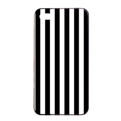Large Black and White Cabana Stripe Apple iPhone 4/4s Seamless Case (Black)