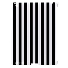Large Black and White Cabana Stripe Apple iPad 3/4 Hardshell Case (Compatible with Smart Cover)
