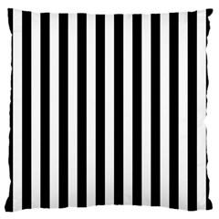 Large Black and White Cabana Stripe Large Cushion Case (Two Sides)