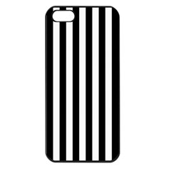 Large Black and White Cabana Stripe Apple iPhone 5 Seamless Case (Black)