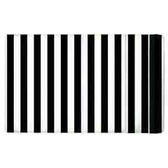 Large Black and White Cabana Stripe Apple iPad 3/4 Flip Case