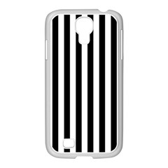 Large Black and White Cabana Stripe Samsung GALAXY S4 I9500/ I9505 Case (White)