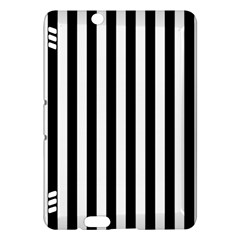 Large Black and White Cabana Stripe Kindle Fire HDX Hardshell Case