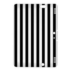 Large Black and White Cabana Stripe Kindle Fire HDX 8.9  Hardshell Case