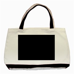 Black and Grey Perforated PInhole Carbon Fiber Basic Tote Bag (Two Sides)