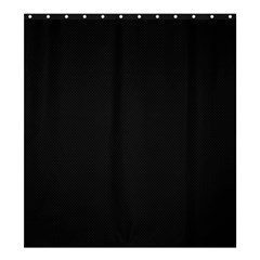 Black and Grey Perforated PInhole Carbon Fiber Shower Curtain 66  x 72  (Large)