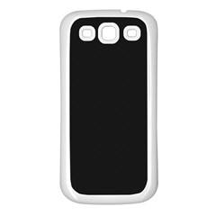 Black and Grey Perforated PInhole Carbon Fiber Samsung Galaxy S3 Back Case (White)