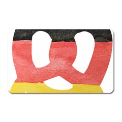 Pretzel in Hand-Painted Water Colors of German Flag Magnet (Rectangular)