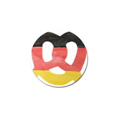 Pretzel in Hand-Painted Water Colors of German Flag Golf Ball Marker (10 pack)