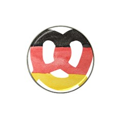 Pretzel in Hand-Painted Water Colors of German Flag Hat Clip Ball Marker