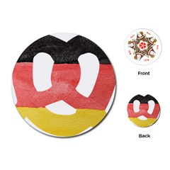 Pretzel in Hand-Painted Water Colors of German Flag Playing Cards (Round)