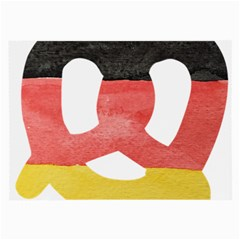 Pretzel in Hand-Painted Water Colors of German Flag Large Glasses Cloth (2-Side)