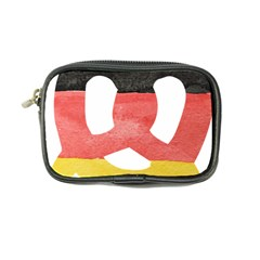 Pretzel in Hand-Painted Water Colors of German Flag Coin Purse