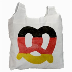 Pretzel in Hand-Painted Water Colors of German Flag Recycle Bag (Two Side)