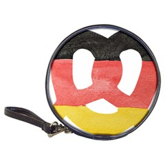 Pretzel in Hand-Painted Water Colors of German Flag Classic 20-CD Wallets