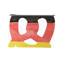 Pretzel in Hand-Painted Water Colors of German Flag Cosmetic Bag (Large)