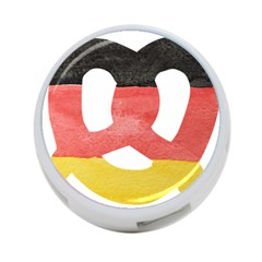 Pretzel in Hand-Painted Water Colors of German Flag 4-Port USB Hub (One Side)